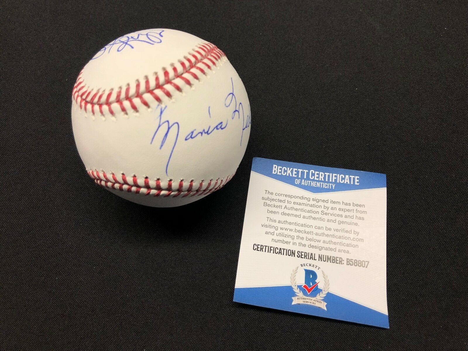 Alanna Rizzo & Mother Maria Medina Signed Major League Baseball MLB *Dodgers BAS