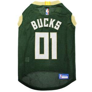 MILWAUKEE-BUCKS-NBA-Licensed-Pets-First-Dog-Pet-Mesh-Green-Jersey