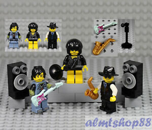 LEGO  Gold Golden Saxophone        Minifigure   Not Included Jazz Band Music