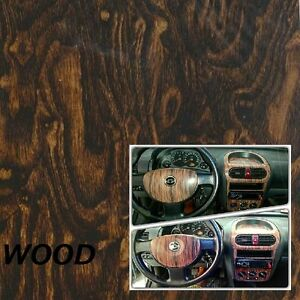 Dipping Hydrographics Film Water Transfer Printing DARK WOOD 50x200 cm PVA