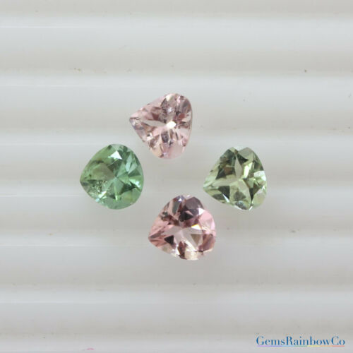 /& 7mm Multi-Colour Tourmaline Heart Faceted Loose gemstone AAA Quality 6mm Details about  /5mm