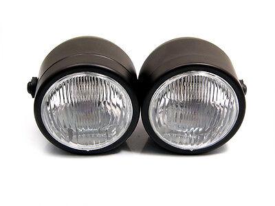 Matt Black 35W Retro Headlights for BMW Cafe Racer Custom Project Motorbike