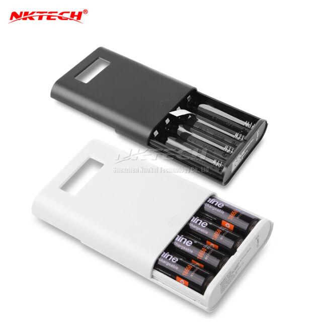 best sneakers 238f8 4789e NKTECH E3s LCD 4-Slot 18650 External Power Bank Battery Charger Holder Box  Case