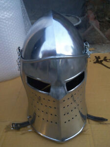 Details about Medieval Knight Armor Crusader New Templar Helmet Helm with  liner