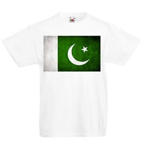 Pakistan Kid/'s T-Shirt Country Flag Map Top Children Boys Girls Unisex