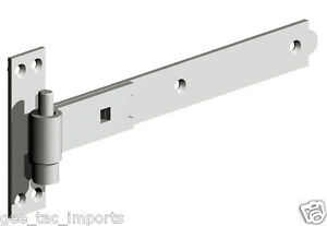 """GEE TAC STABLE DOOR CRANKED BLACK OR SILVER HINGE LATCH HEAVY DUTY  24/"""" /& 18/"""""""