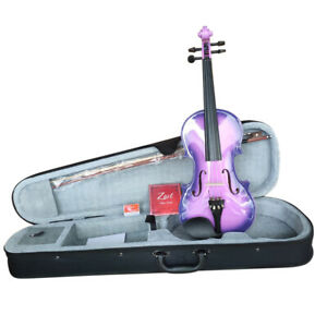 Zest-2 Improved Pack Intermediate Student Purple Burst Violin 1//4 Size Violin