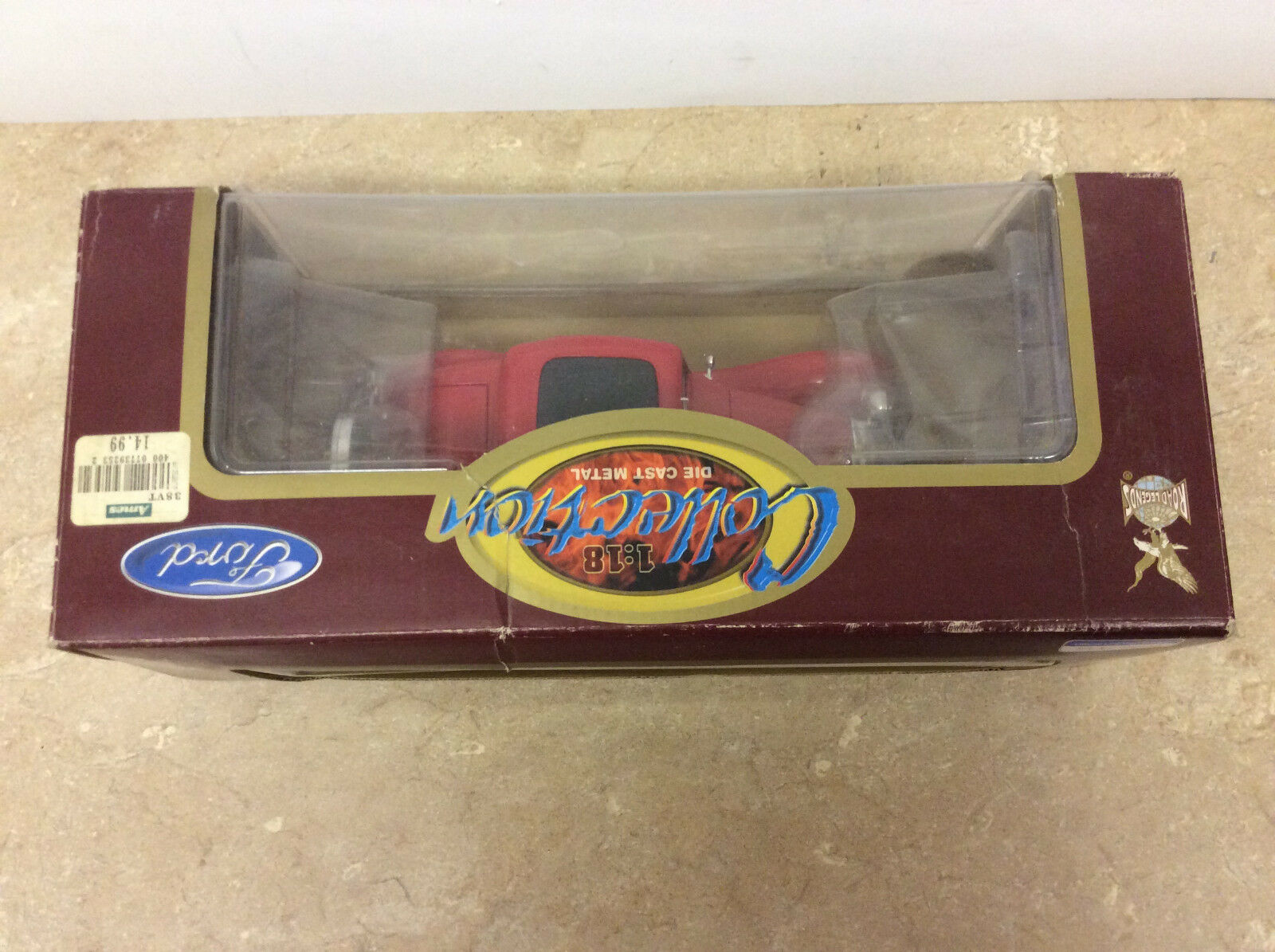 1 18 Diecast Road Road Road Legends Ford 1932 3 Window Red Car Open Box  Shelf Wear  15f7de