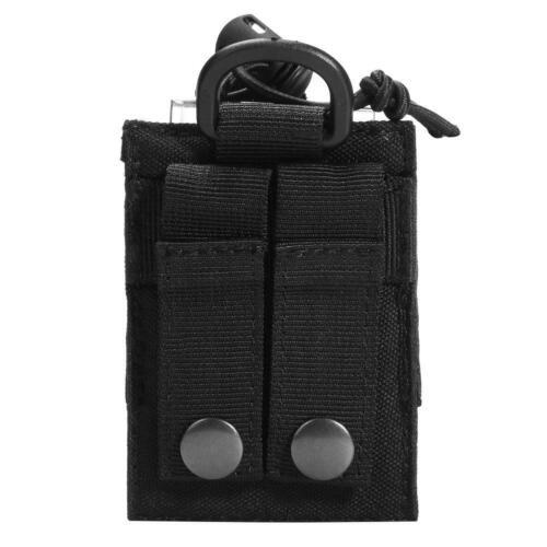 Black Outdoor Molle Radio Walkie Talkie Holder Bag Magazine Pouch Pocket