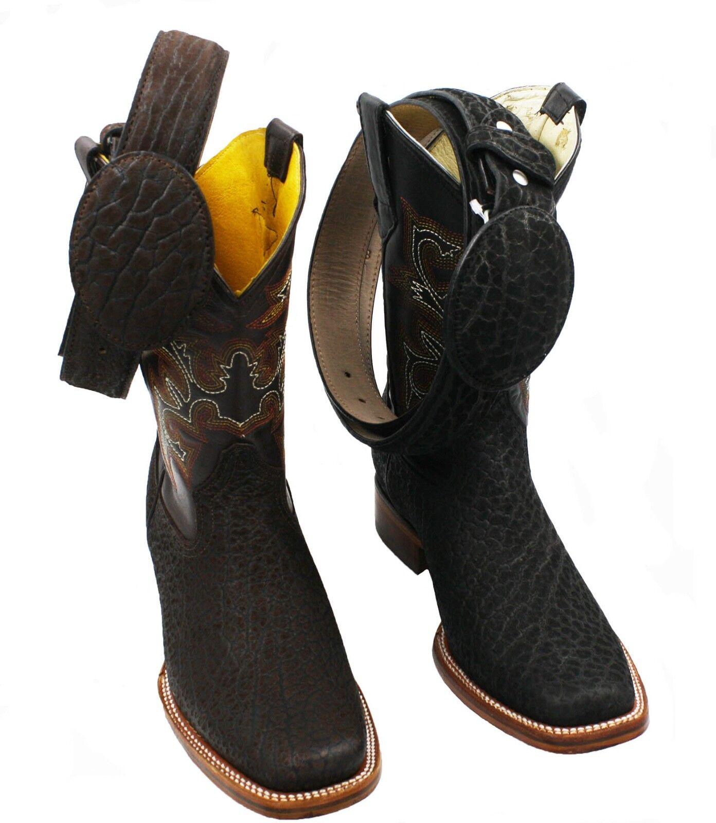 promozioni di squadra Uomo Genuine Bull Bull Bull (Toro) Leather Cowboy Western Rodeo Toe stivali -Free Belt  negozio online