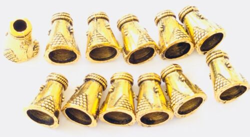 36PCS Antique Gold Fancy Bead Cone-Jewelry Supplies