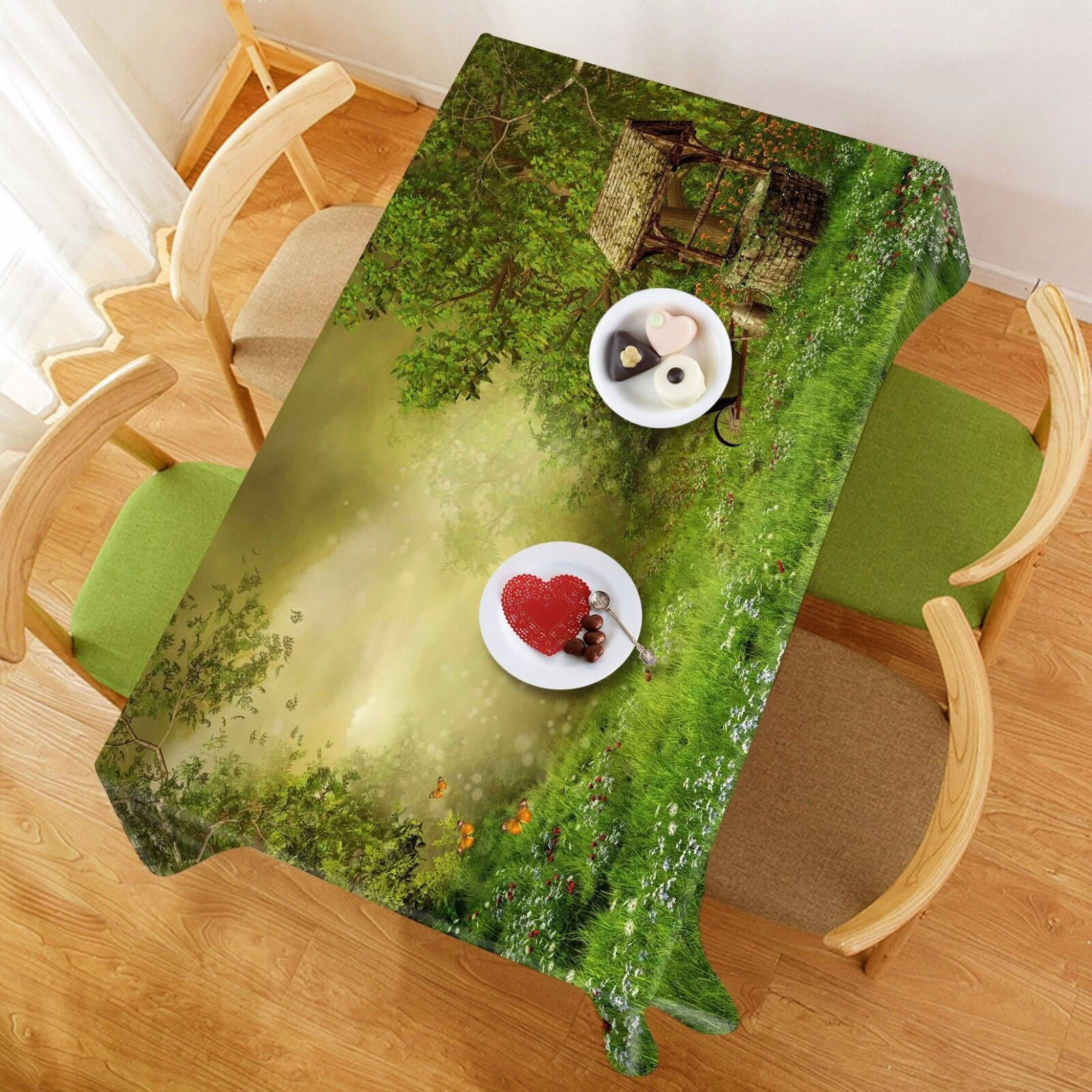 3D Well Scenery 5 Tablecloth Table Cover Cloth Birthday Party Event AJ WALLPAPER