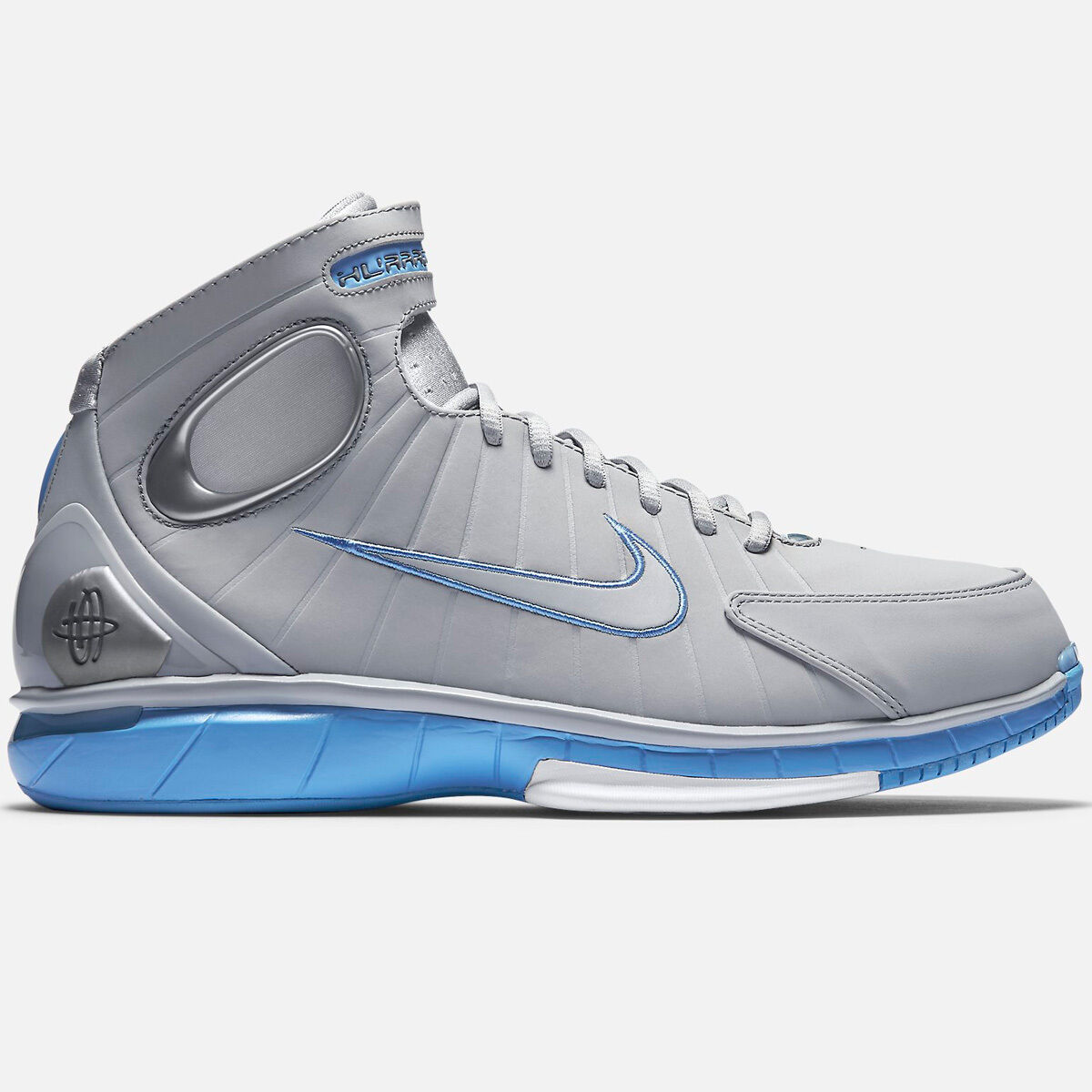 Nike Air Zoom Huarache 2K4 Sz 10.5 12 Wolf Grigio Carolina Blue 2004 704830-400
