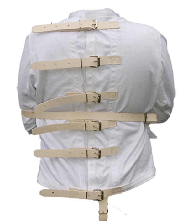 Mago's straight jacket trucado con deslizamiento correa de cuero Camisa De Fuerza