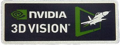 NVIDIA 3D VISION STICKER LOGO AUFKLEBER 28x11mm (463)