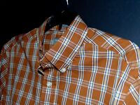 Nwt, Saddlebred Button Front Casual Shirt Small Plaid