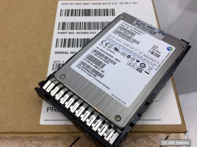 "HP 100GB 653965-001 SSD Solid State Drive SATA, MLC, 2.5"" für Proliant Gen 8, 9"