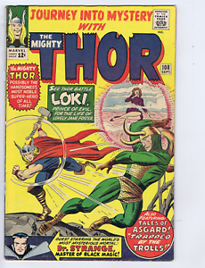Journey into Mystery #108 Marvel 1964 Dr. Strange X-over, At the Mercy of Loki !