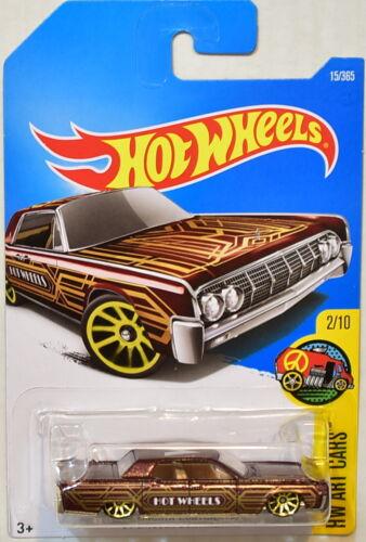 HOT WHEELS 2017 HW ART CARS #2/10 '64 LINCOLN CONTINENTAL