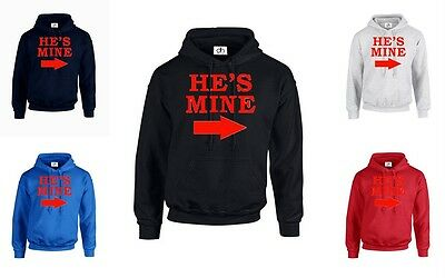 SWEATSHIRT HE/'S MINE SHE/'S MINE JUMPER Funny valentines day Couple Matching