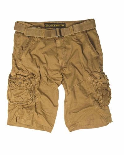 Mil-Tec vintage Survival Short Pantalon Court PREWASH Coyote Short Pantalon Court