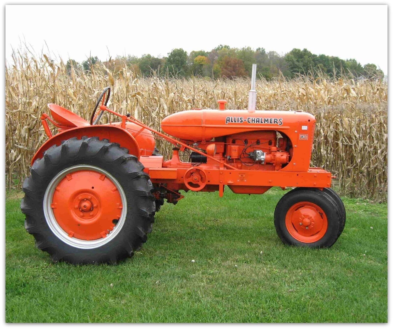 VTG Tractor Allis Chalmers  Fleece Blanket Throw 50x60 bed sofa farmer rancher