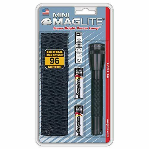 Maglite Mini Incandescent 2-Cell AA Flashlight with Holster Black