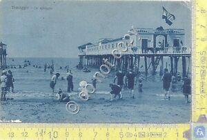 Cartolina-Postcard-Viareggio-spiaggia-animata-1916