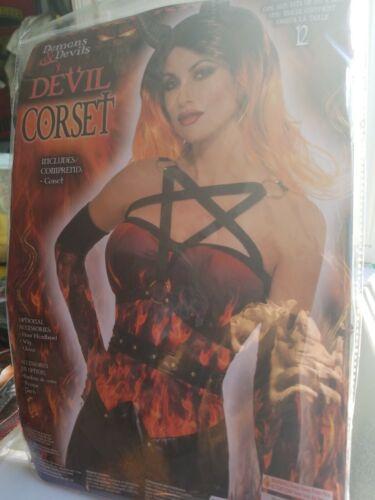 Adult Demon Devil Corset Costume accessory Standard 50 /% off Final sale