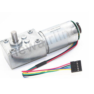 AZSSMUK Hall Sensor Encoder Geared Motor DC 12V 205RPM