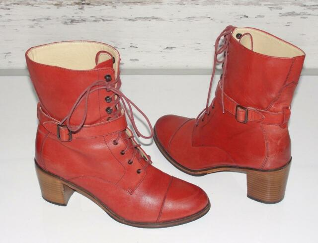 WOLVERINE 1000 MILE BY SAMANTHA PLEET *BLIXEN* STACKED HEELS~LEATHER BOOTS~8.5