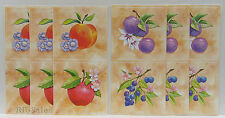 Tile Cover 12 Fruit Apple Peach Stick Ups Appliques Stickers Kitchen Tiles Decal