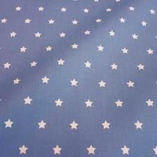 Stoff Baumwollstoff beschichtet Sterne jeans blau weiß abwaschbar Tischdecke