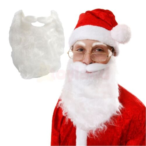 FATHER CHRISTMAS WHITE BEARD SANTA CLAUS MEN FANCY DRESS FESTIVE STOCKING FILLER