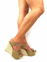 Womens Shoes Wedges Sandals Size 7 Strappy Summer High Heels Ankle Strap
