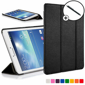 finest selection 1ce9b 427ed Details about Forefront Cases® Samsung Galaxy Tab 3 8.0 Leather Smart Case  Cover Stand Stylus