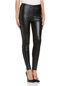 8b1620bd9aae9 Lipsy Michelle Keegan Sexy Biker Legging Sz 8 Black Leather Look ...