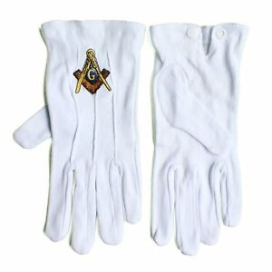 100-COTTON-SOFT-WHITE-MASONIC-GLOVES-WEDDING-CADET-MASON-MARCHING-COMPASS