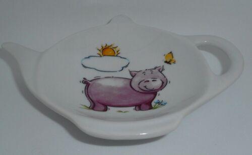 Pig Tea Bag Rest Pig Tea Bag Holder BN Porcelain Piggy Tea Bag Tidy
