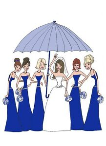 Bridal shower THANK YOU cards wedding  ROYAL BLUE