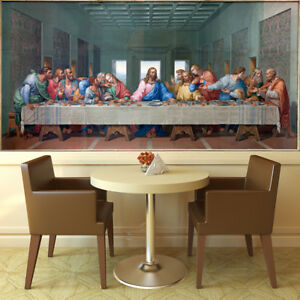 Image Is Loading The Last Supper Wall Mural Christ Photo