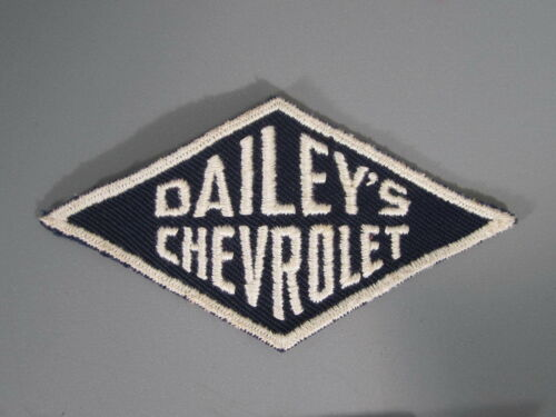 New Old Stock of Closed Embroidery Company //FREE Ship Dailey/'s Chevrolet Patch
