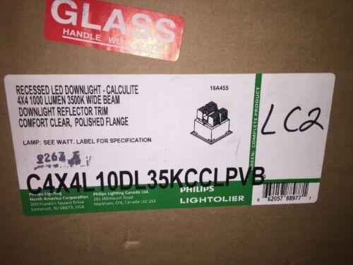 Phillips Lightoiler C4X4L10DL35KCCLPVB Recessed Led Downlight 4 X 4 Lumen 3500K