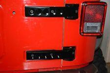 Jeep Wrangler JK JKU Billet Aluminum Tailgate Hinges 2007-2016 BLK powdr coat