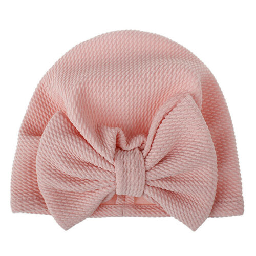 Baby Girl Hat Infant Bowknot Print Bow Turban Beanie Hats Head Wrap For Kids Cap