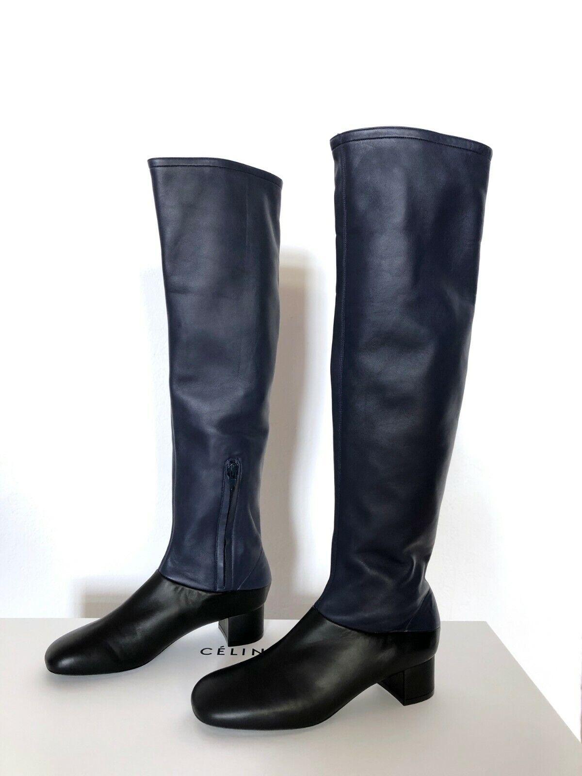 Céline Two Tone Leather Stiefel sz37 NEW