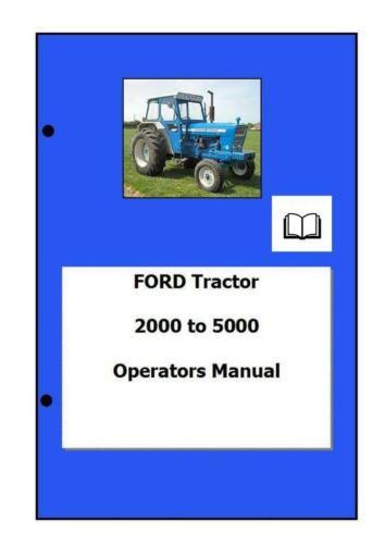 Ford 2000 5000 Manual del operador digital