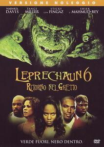 Leprechaun 6 Ritorno nel ghetto (2003) DVD RENT NUOVO Sigillato