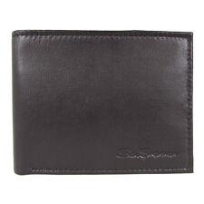 Ben Sherman Mens Kensington Collection 16005C Leather Passcase Wallet, Black