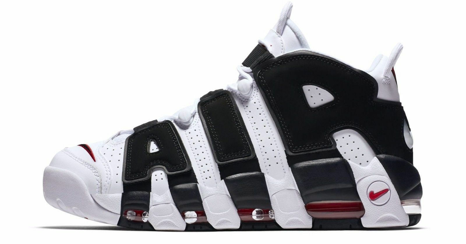 Nike Air More Uptempo PE White Black Black Black Red 96' size 13. Scottie Pippen. 414962-105 db2edc